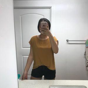 Mustard loose fitting shirt